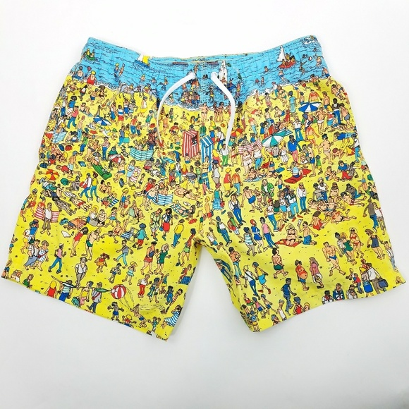 458a5d7662 Where's Waldo Beach Summer Theme Swim Shorts. M_5b5a2efe0cb5aacde7688757.  Other Swims you may like. Quicksilver swimming trunks men's